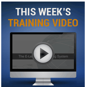 This week trainings video
